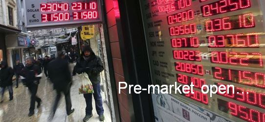 Pre-Market Trading Report for Stocks, Bonds, Commodities and Currencies