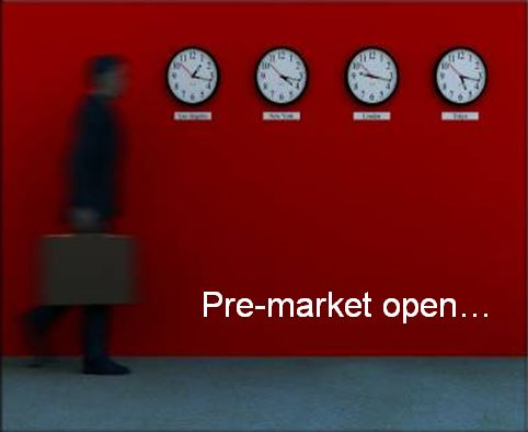red clocks pre-market open