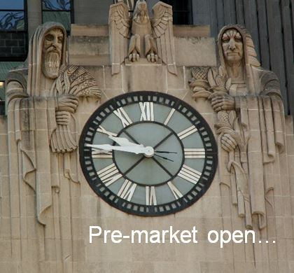 Pre-Market Trading for Stocks,Bonds, Commodities and Currencies